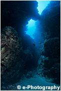 サンゴ礁の切れ目