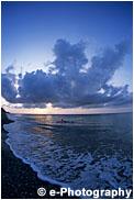 東シナ海の夕日