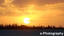海 波 水 光 水平線 太陽 サンセット