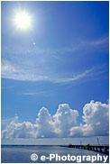 キーウェストの雲と太陽