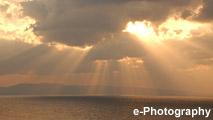 海 光 水平線 太陽