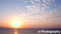 海 波 水 光 水平線 太陽