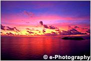 ウェザーステーションから見た西島の夕焼け