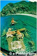 兄島滝の浦の沈船