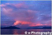 アラスカの夕焼け、ピンク