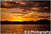アラスカの夕焼け、オレンジ